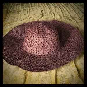 Brown Large Brimmed Sun Hat